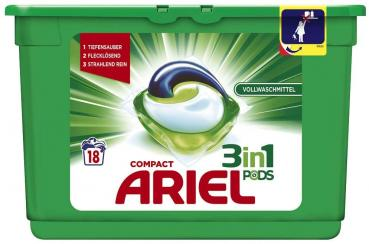 Ariel Compact 3in1 Pods 18 WL