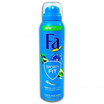 Fa Deospray Sporty Fit 48 h Protection Yuzu & Mint Scent 150 ml